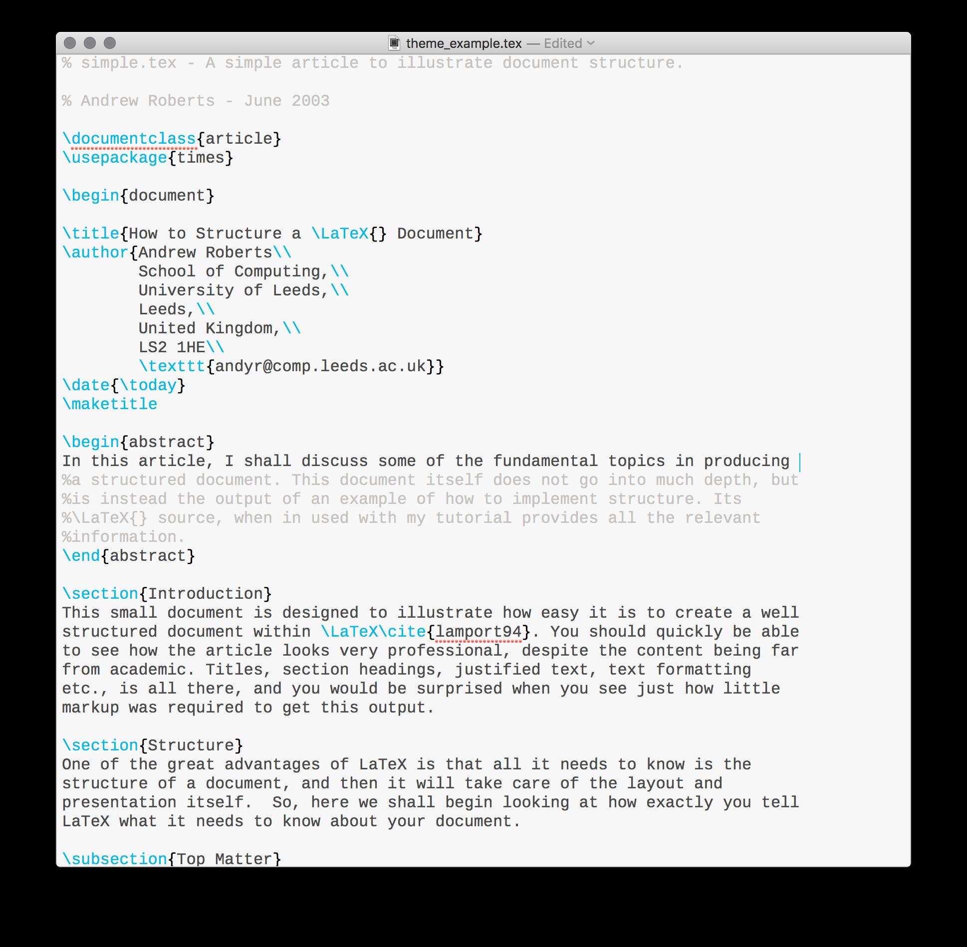 iA Writer inspired theme for TeXShop